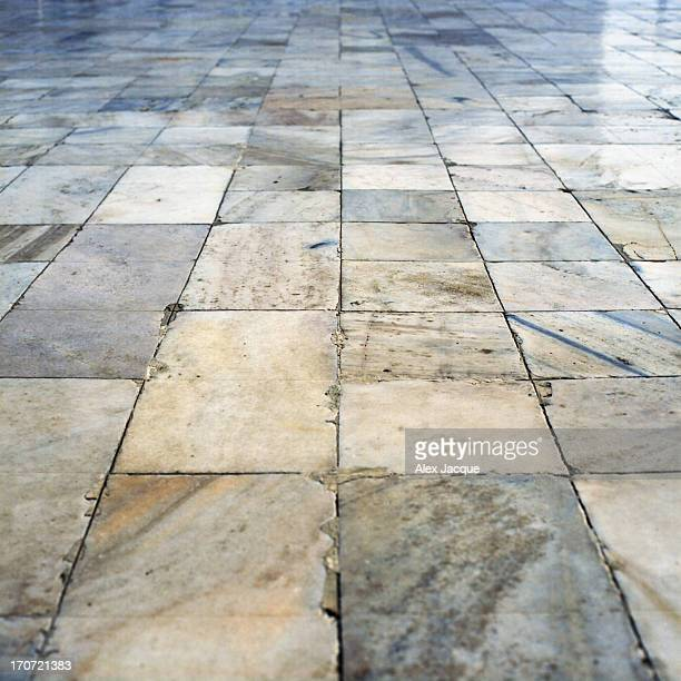 Marble Stone Floor at Taj Mahal in Agra, India