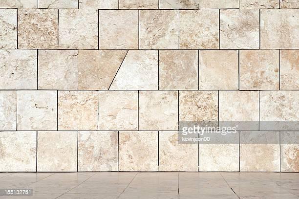 Un mur en marbre et sol