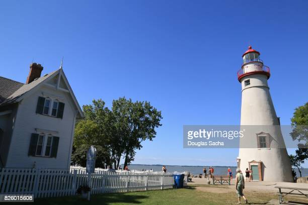 Marblehead Lighthouse and keepers house, Marblehead, Ohio, USA