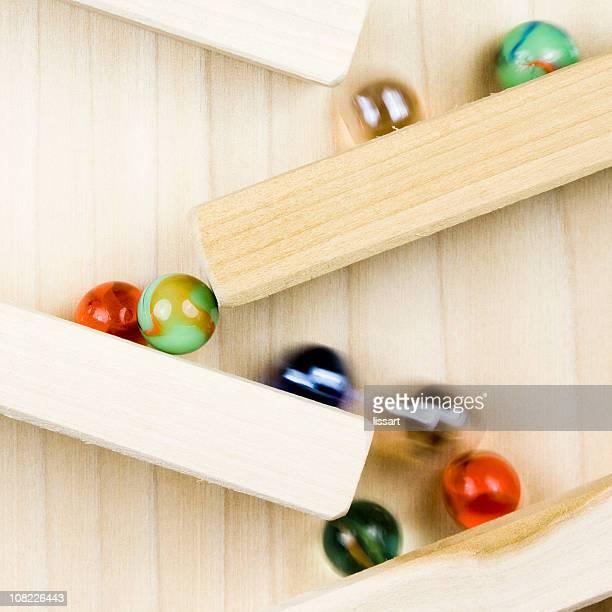 Marbles auf Holz Spielzeug