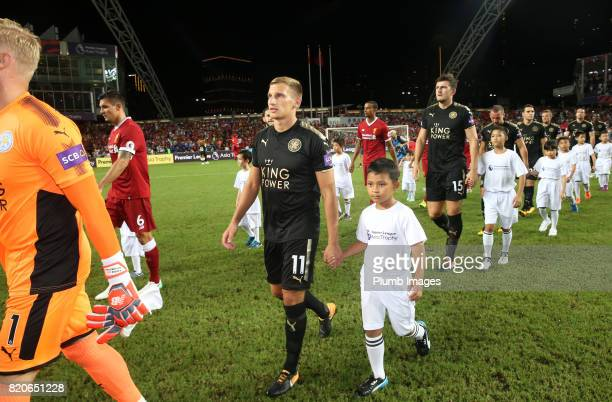 KONG JULY Marc Albrighton of Leicester City ahead of the Premier League Asia Trophy Final between Liverpool FC and Leicester City on July 22nd 2017...