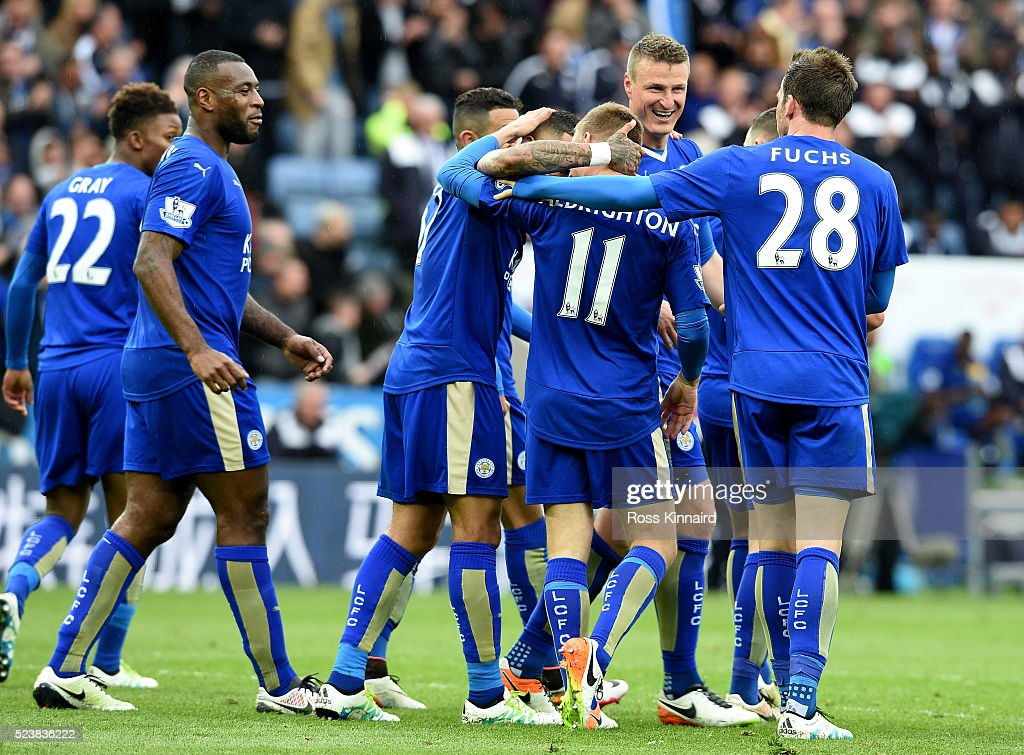 Albrighton United Kingdom  City pictures : ... the King Power Stadium on April 24, 2016 in Leicester, United Kingdom