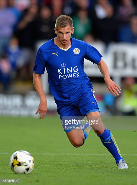 Marc Albrighton of Leicester City during the Pre Season Friendly match between Burton Albion and Leicester City at Pirelli Stadium on July 28 2015 in...