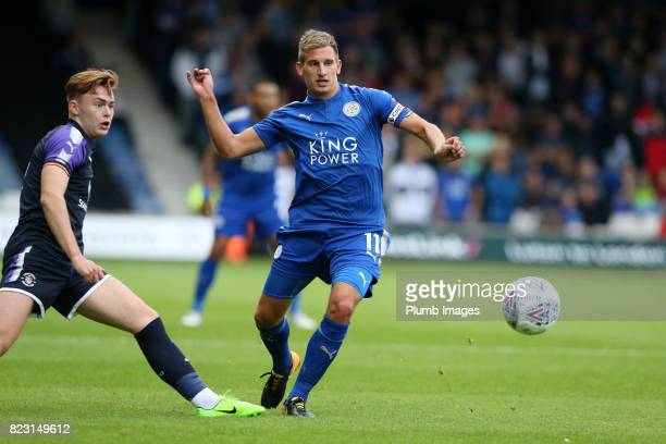 Marc Albrighton of Leicester City during the pre season friendly between Luton Town and Leicester City on July 26th 2017 in Luton United Kingdom