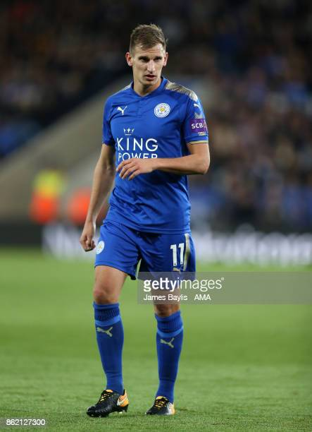 Marc Albrighton of Leicester City during the Premier League match between Leicester City and West Bromwich Albion at The King Power Stadium on...