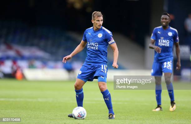Marc Albrighton of Leicester City in action during the pre season friendly between Luton Town and Leicester City on July 26th 2017 in Luton United...