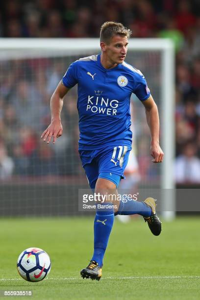 Marc Albrighton of Leicester City in action during the Premier League match between AFC Bournemouth and Leicester City at Vitality Stadium on...