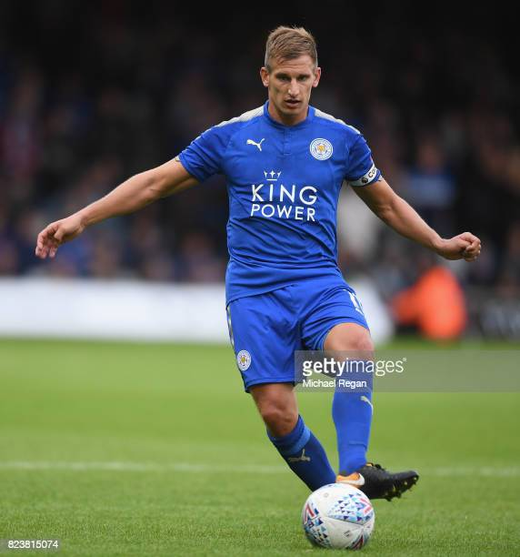 Marc Albrighton of Leicester in action during the preseason friendly match between Luton Town and Leicester City at Kenilworth Road on July 26 2017...