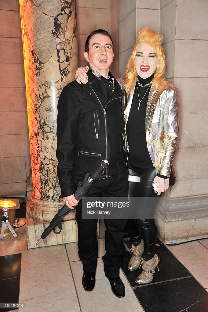 Marc Almond and Pam Hogg attend the private view of the 'David Bowie Is' exhibition at the Victoria And Albert Museum at Victoria & Albert Museum on March 20, 2013 in London, England.