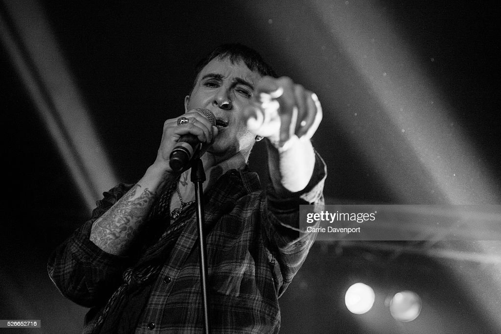 Marc Almond performs onstage at CQAF Marquee on April 30, 2016 in Belfast, Northern Ireland.