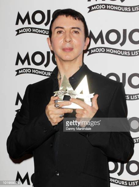Marc Almond with awards at The Mojo Honours List at The Brewery on June 10 2010 in London England