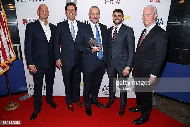 Marc Andersen Steve Ross Tim Edwards William McNulty and Bob Flanagan attend the Capitol File 58th Presidential Inauguration Reception at Fiola Mare...
