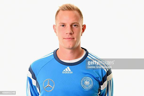Marc Andre ter Stegen of Germany poses during the Under 21 Germany team presentation on October 8 2014 in Duesseldorf Germany