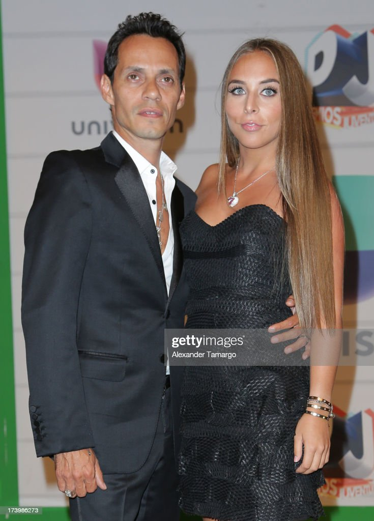 Marc Anthony and Chloe Green attend Univision's Premios Juventud 2013 at Bank United Center on July 18, 2013 in Miami, Florida.