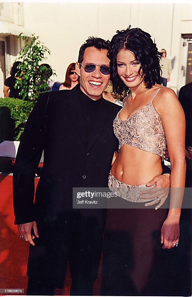 Marc Anthony and Dayanara Torres during 2000 Blockbuster Awards at Shrine Auditorium in Los Angeles, California, United States.