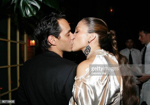 Marc Anthony and Jennifer Lopez attend a post VMA dinner at The Waverly Inn on September 13 2009 in New York City