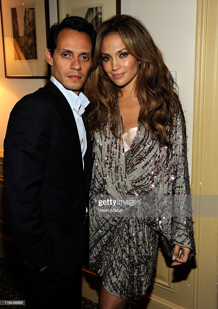 Marc Anthony and Jennifer Lopez backstage at Samsung's 9th Annual Four Seasons of Hope Gala at Cipriani Wall Street on June 15, 2010 in New York City.