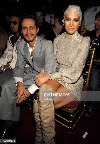 Marc Anthony and Jennifer Lopez during 2006 MTV Video Music Awards Audience and Backstage at Radio City Music Hall in New York City New York United...