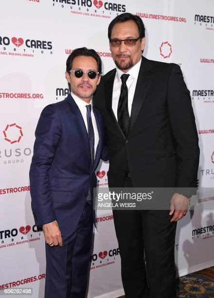 Marc Anthony and Jimmy Smits attend the Maestro Cares Foundation's 4th annual 'Changing Lives/Building Dreams' gala at Cipriani Wall Street on March...
