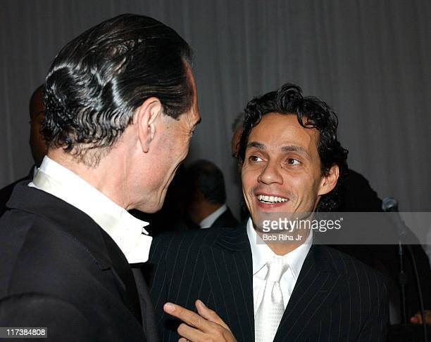 Marc Anthony and MGM chairman and CEO Alex Yemenidjian in Beverly Hills Calif on Saturday Oct 2 2004 for the inaugural Noche de Nios Gala a...