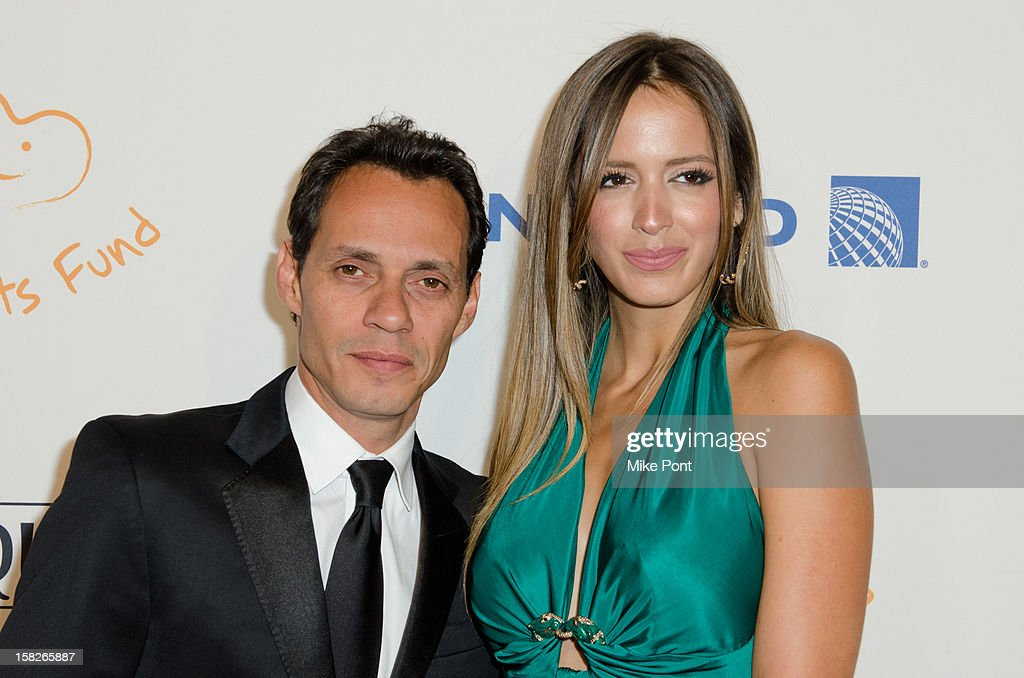 Marc Anthony and model Shannon De Lima attend the 2012 Happy Hearts Fund Land Of Dreams Mexico Gala at the Metropolitan Pavilion on December 11 2012...