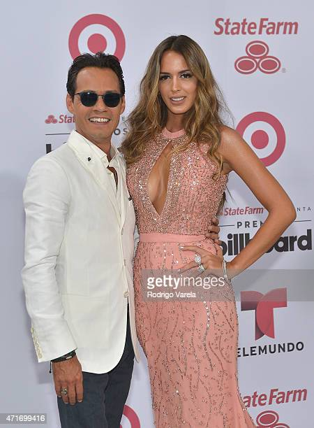 Marc Anthony and Shannon De Lima arrive at 2015 Billboard Latin Music Awards presented bu State Farm on Telemundo at Bank United Center on April 30...