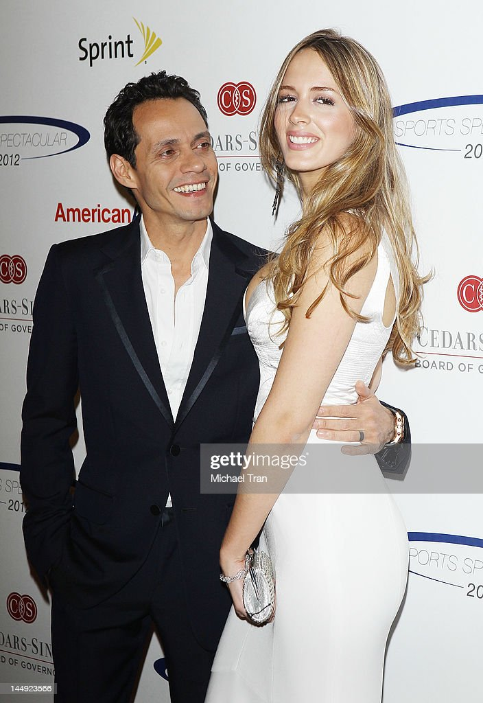Marc Anthony and Shannon De Lima arrive at 27th Anniversary of Sports Spectacular held at the Hyatt Regency Century Plaza on May 20 2012 in Century...