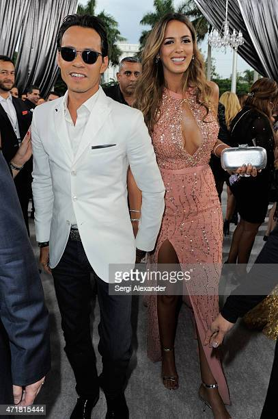 Marc Anthony and Shannon De Lima attend the 2015 Billboard Latin Music Awards 'Premios Billboard' at BankUnited Center on April 30 2015 in Miami...