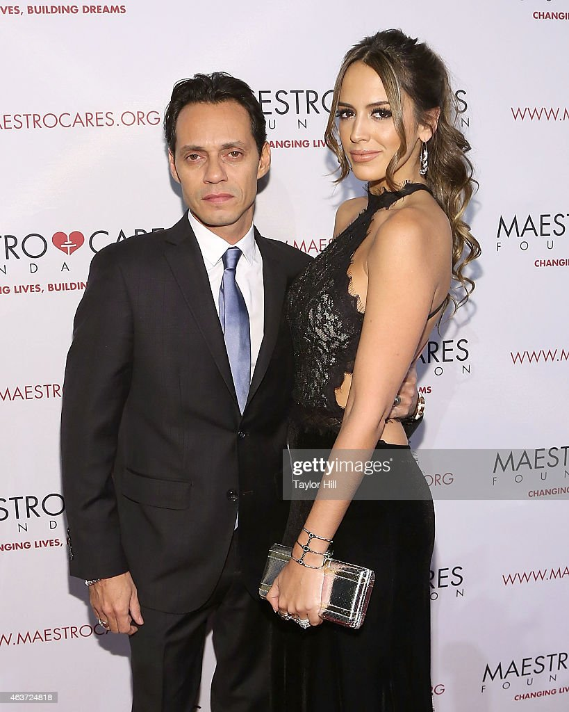 Marc Anthony and Shannon De Lima attend the 2015 Maestro Cares Gala at Cipriani Wall Street on February 17, 2015 in New York City.