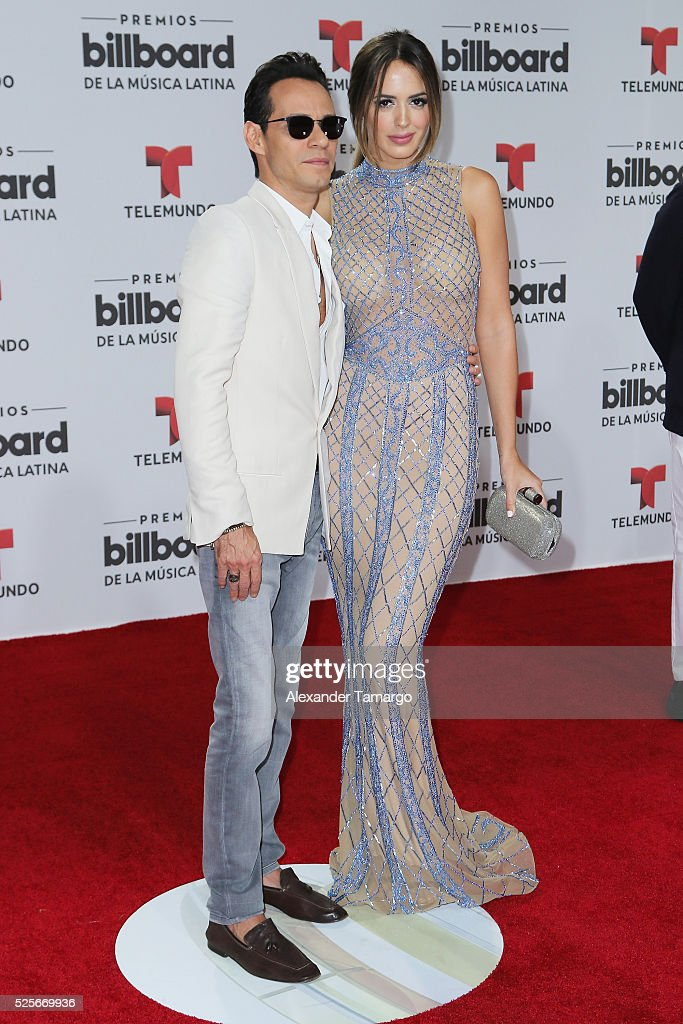Marc Anthony and Shannon de Lima attend the Billboard Latin Music Awards at Bank United Center on April 28, 2016 in Miami, Florida.