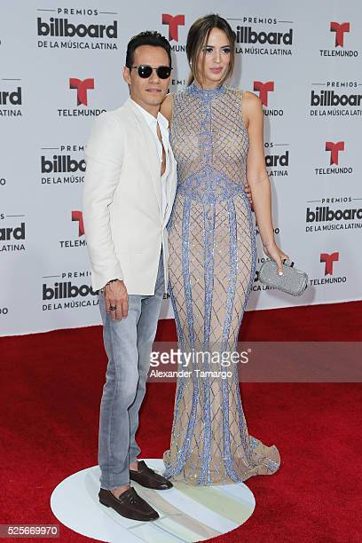 Marc Anthony and Shannon de Lima attend the Billboard Latin Music Awards at Bank United Center on April 28 2016 in Miami Florida