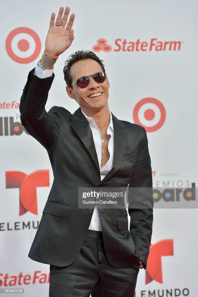 Marc Anthony arrives at Billboard Latin Music Awards 2013 at Bank United Center on April 25 2013 in Miami Florida