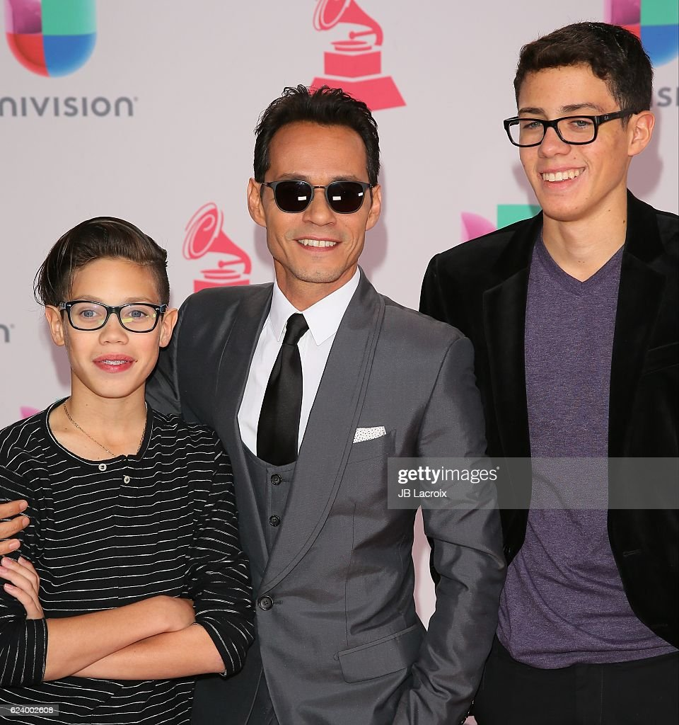 Marc Anthony (C) attends the 17th Annual Latin Grammy Awards on November 17, 2016 in Las Vegas, Nevada.