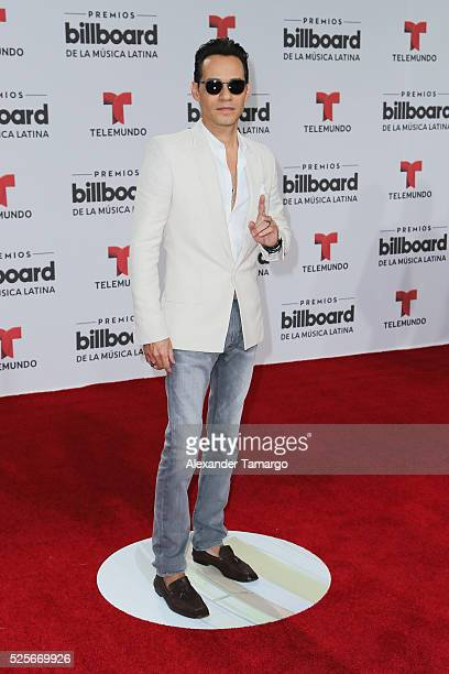 Marc Anthony attends the Billboard Latin Music Awards at Bank United Center on April 28 2016 in Miami Florida