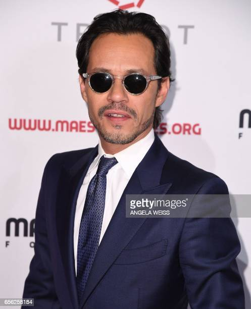 Marc Anthony attends the Maestro Cares Foundation's 4th annual 'Changing Lives/Building Dreams' gala at Cipriani Wall Street on March 21 2017 in New...