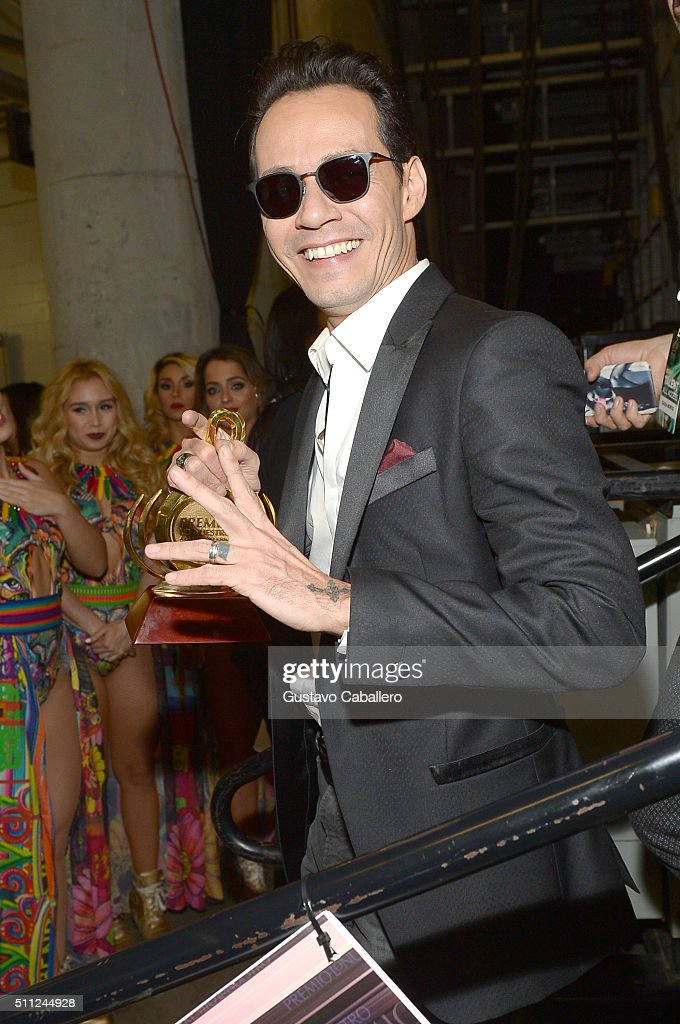 <a gi-track='captionPersonalityLinkClicked' href=/galleries/search?phrase=Marc+Anthony&family=editorial&specificpeople=202544 ng-click='$event.stopPropagation()'>Marc Anthony</a> attends Univision's 28th Edition of Premio Lo Nuestro A La Musica Latina on February 18, 2016 in Miami, Florida.