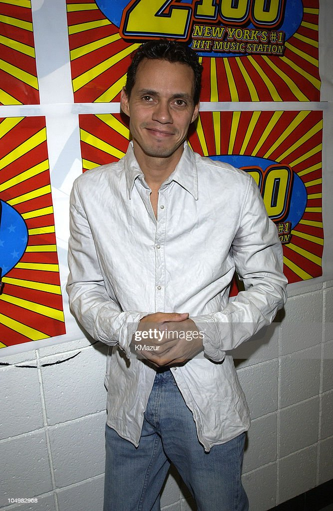 Marc Anthony during Z100's Zootopia 2002 - Backstage with the New Jersey Nets & New York Yankees at Giants Stadium in East Rutherford, New Jersey, United States.