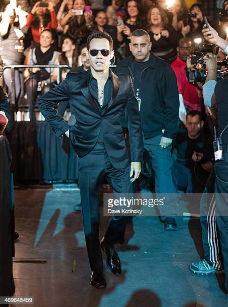 Marc Anthony enters the arena at Barclays Center on February 15 2014 in the Brooklyn borough of New York City