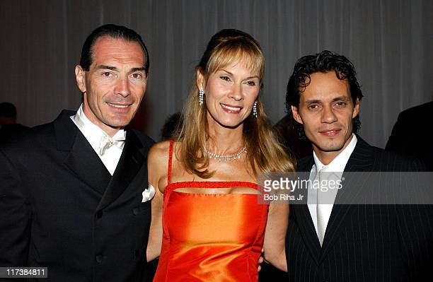Marc Anthony MGM chairman and CEO Alex Yemenidjian and child advocate Cheryl Saban in Beverly Hills Calif on Saturday Oct 2 2004 for the inaugural...