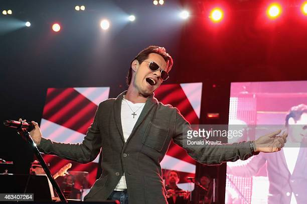 Marc Anthony performs at Atlantic City Boardwalk Hall on February 13 2015 in Atlantic City New Jersey