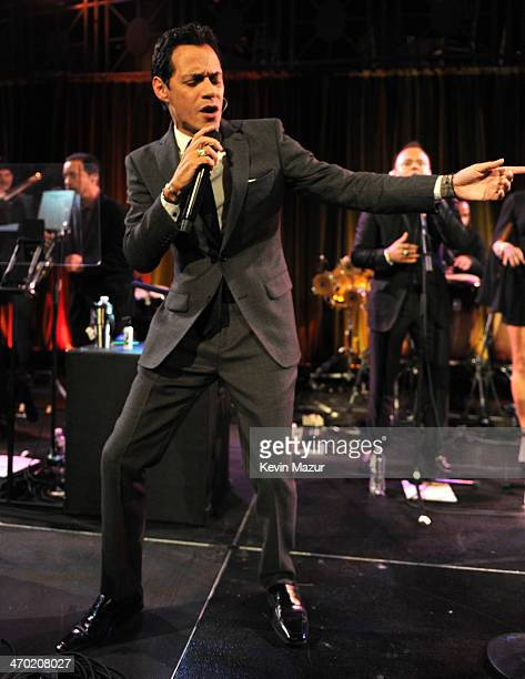 Marc Anthony performs onstage at the Maestro Cares First Annual Gala at Cipriani Wall Street on February 18 2014 in New York City