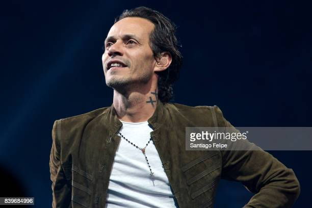 Marc Anthony performs onstage during his 'Full Circle Tour' at Madison Square Garden on August 26 2017 in New York City