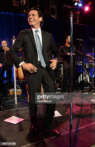 Marc Anthony performs onstage during Maestro Cares Second Annual Gala Dinner at Cipriani Wall Street on February 17 2015 in New York City