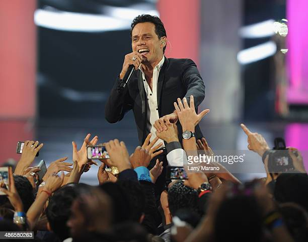 Marc Anthony performs onstage during the 2014 Billboard Latin Music Awards at Bank United Center on April 24 2014 in Miami Florida
