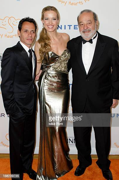 Marc Anthony Petra Nemcova and Carlos Slim attend the 2012 Happy Hearts Fund Land Of Dreams Mexico Gala at the Metropolitan Pavilion on December 11...