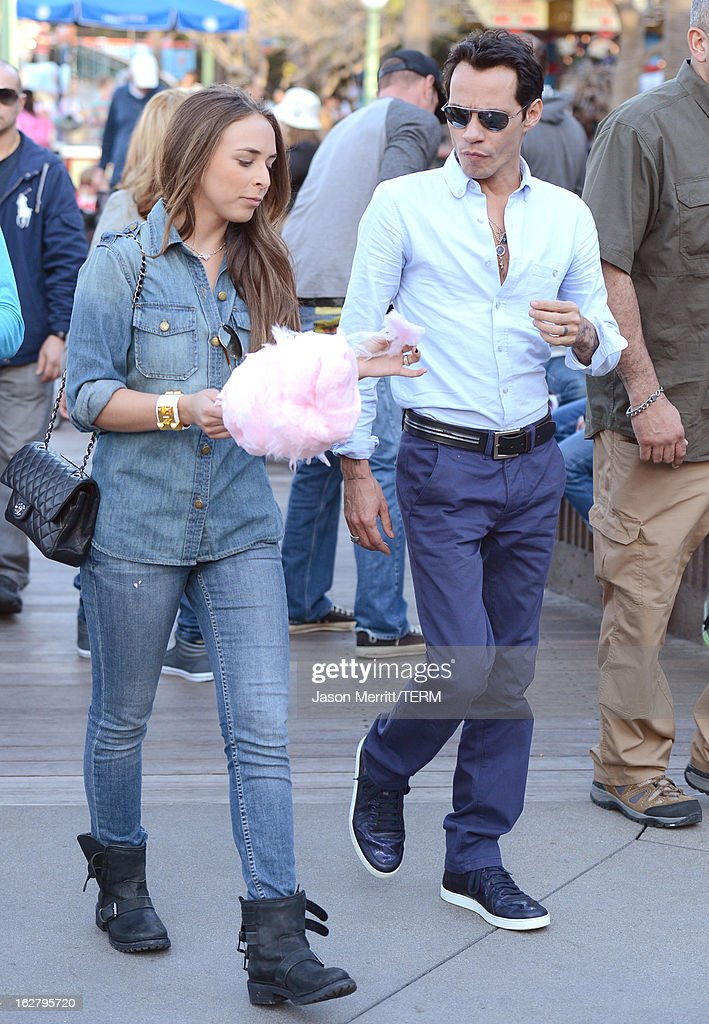 <a gi-track='captionPersonalityLinkClicked' href=/galleries/search?phrase=Marc+Anthony&family=editorial&specificpeople=202544 ng-click='$event.stopPropagation()'>Marc Anthony</a> with his twins Max and Emme (not pictured) and Mark's new girlfriend <a gi-track='captionPersonalityLinkClicked' href=/galleries/search?phrase=Chloe+Green&family=editorial&specificpeople=4271114 ng-click='$event.stopPropagation()'>Chloe Green</a> sighting at Disneyland February 26, 2013 in Anaheim, California.