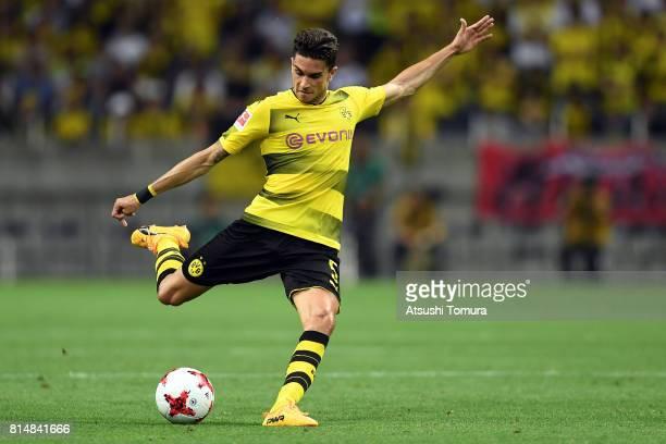 Marc Barta of Borussia Dortmund in action during the preseason friendly match between Urawa Red Diamonds and Borussia Dortmund at Saitama Stadium on...
