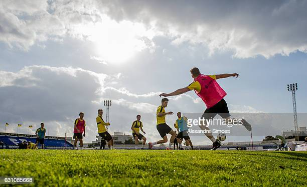 Marc Bartra and Lukasz Piszczek of Borussia Dortmund during the second day of the training camp at Estadio Municipal de Marbella on January 06 2017...