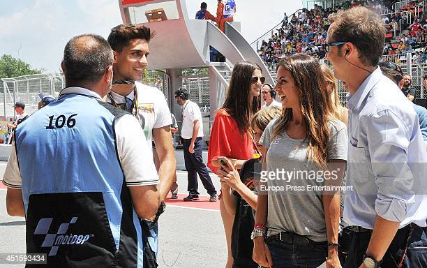 Marc Bartra and Melissa Jimenez are seen on June 15 2014 in Barcelona Spain