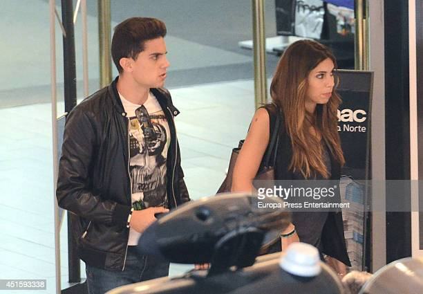 Marc Bartra and Melissa Jimenez are seen on June 4 2014 in Madrid Spain